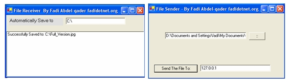 File Transfer Using FileStream Class