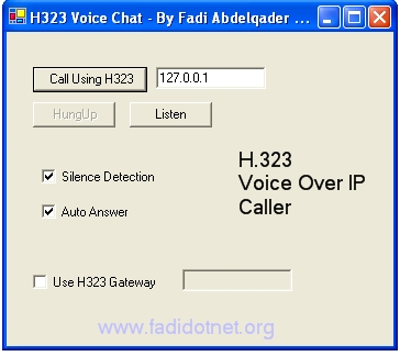H.323 Voice Chat Example